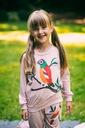 Dres dla dziewczynki różowy papuga 140 Długość maxi