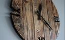 Zegar OldStyle rustic porwansalski loft duży 60cm Zasilanie bateryjne