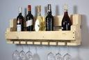 Półka na wino z drewna palet loft rustykalna 60cm