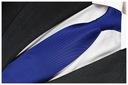 ŻAKARDOWY Krawat Męski Granatowy CHABROWY RC42 Kolor granatowy inny kolor
