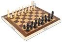 Klasyczne SZACHY drewniane gra w PUDEŁKU etui Producent 4297