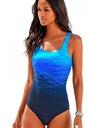 MONOKINI strój CIENIOWANY kostium kąpielowy M 38 Kolor niebieski