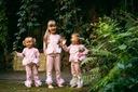 Dres dla dziewczynki różowy łabędź 120 Zapięcie brak