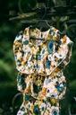 Zestaw dla dziewczynki szorty bluzka kwiaty 120 Długość przed kolano