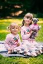 Dres dla dziewczynki różowy papuga 140 Płeć Dziewczynki