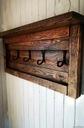 Wieszak rustykalny stare drewno rustick loft Wysokość mebla 33 cm
