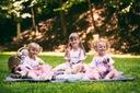 Zestaw dziewczynka spódniczka tiul lato wiosna Rozmiar 110