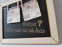 Prezent na urodziny 20 30 40 50 60 RAMKA wesele