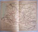 FRANCJA. Mapa kolejowa.