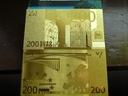 Banknot Pozłacany 24 karat 200.Euro
