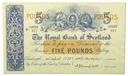 33.Szkocja, 5 Funtów 1955 rzadki, St.1-/2+