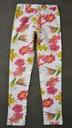 Śliczne bawełniane legginsy w kwiatki Tik Tak 110