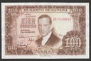 Hiszpania - 100 peset - 1953 - stan 2
