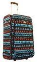 Walizka podróżna miękka duża wzór aztec poszerzana