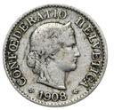 Szwajcaraia - moneta - 5 Rappen 1908 - 2 - RZADKA