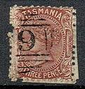 1009 kasowane kol bryt Tasmania nr 26 wodny znak 6