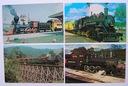 LOKOMOTYWY USA - 4 pocztówki
