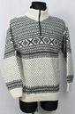 Sweter ESKIMO M WEŁNA CIEPŁY DALE NORWAY