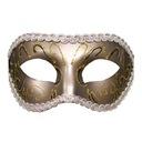 Maska karnawałowa - S&M Grey Masquerade Mask
