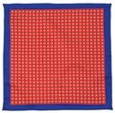 Granatowo-czerwona poszetka w kwadraty E69