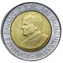 Watykan - moneta - 500 Lir 1987