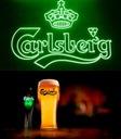 CARLSBERG szklanka PINT zielona UK