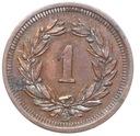 Szwajcaraia - moneta - 1 Rappen 1895 - 2 - RZADKA