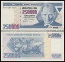 MAX - TURCJA 250000 Lirasi (1998) r. # P211 # VF+