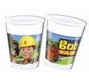 Kubeczki plastikowe Bob Budowniczy 8 szt urodziny