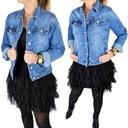 Katana Kurtka Jeans Klasyczna Jeansowa Plus Size