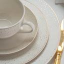 VILLA ITALIA GOLDEN SAND Serwis obiadowy + kawowy Kolor biały żółty i złoty