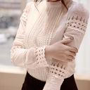 Elegancka biała bluzka koszulowa koronka haft XXXL Płeć Produkt damski