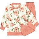 PIŻAMA piżamka dziewczynka DŁUGI RĘKAW róże 98
