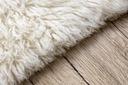 FLOKATI wełniane białe/krem 130x150 cm #FL001 Wysokość runa 40 mm