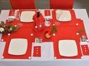POKROWCE 6 SZT CZERWONE, MOCNE, NIE Z FLIZELINY Kod produktu pokrowce na krzesła czapki mikołaja 6szt czerwone