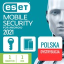 Antywirus Android ESET Mobile Security 1 rok NOWA
