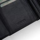 Skórzany portfel męski suwak BETLEWSKI RFID duży Wzór dominujący bez wzoru