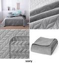 Narzuta na łóżko 200x220 velvet pikowana welur Marka Spod Igły i Nitki