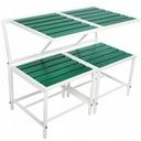 Zestaw Mebli na Balkon 3 w 1 Stolik Ławka Taborety Zawartość zestawu ławka puf stolik