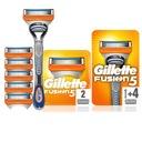 Gillette Fusion maszynka + ostrza wkłady 6 szt