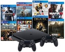 PS4 KONSOLA SLIM 1TB + 2x PAD V2 + 8 SUPER GIER