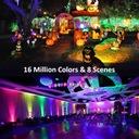 Reflektor zewnętrzny oświetlenie domu RGB LED WIFI Jasność 500 lm