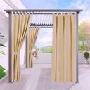 Zasłona ogrodowa beżowa 155x240 na PREZENT ŚWIĘTA Producent marka własna