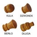 Karnisz drewniany fi 28 BRĄZ WENGE podwójny 2,2 m Średnica drążka 28 mm
