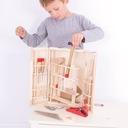 Walizka drewniana skrzynka + narzędzia dla dzieci Kod producenta 410