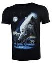 Koszulka t-shirt świecąca w ciemności wilki r.XXL