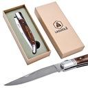 Nóż składany scyzoryk stal drewno LAGUIOLE Model Nóż składany turystyczny ostrze stal