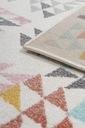 Dywan pastelowy młodzieżowy 160x220 cm Trójkąty Kształt Prostokąt