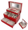 Kuferek na biżuterię czerwony szkatułka glamour
