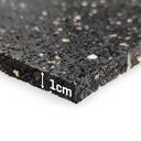 GRUBA MATA ANTYWIBRACYJNA 60X60cm POD PRALKĘ 1cm Kolor dominujący czarny